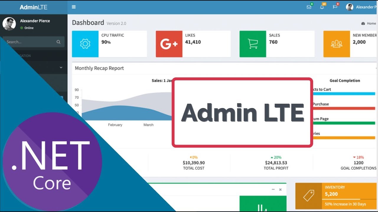 How to Implement Admin LTE Theme in ASP.NET Core
