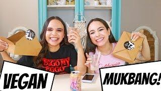 MUKBANG w/ Tori! Vegan Burgers & Storytime!