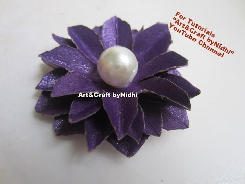 How to make 3d flower from waste wedding cards recycle craft youtube stopboris Gallery