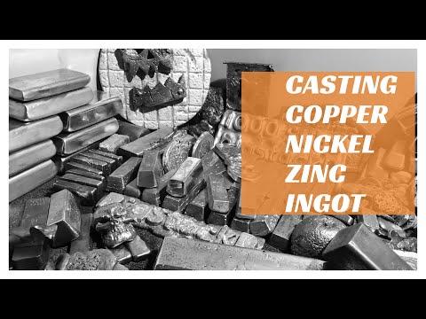 Casting Nickel Copper Zinc Ingot Melting Metal July 2017
