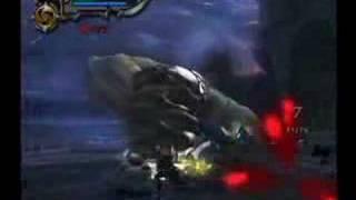 God of war 2 towering boss battle
