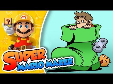 Hay un Super Mario en mi bota!!   Super Mario Maker (60fps)