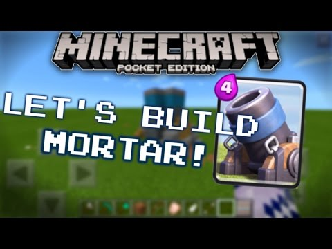 Minecraft PE: Let's Build a MORTAR! (FROM CLASH OF CLANS AND FROM CLASH ROYALE)