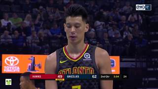 Jeremy Lin's Offense & Defense Highlights 2018-10-20 Hawks VS Grizzlies