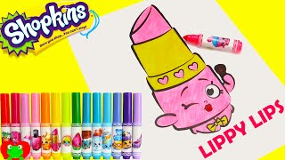 Shopkins Crayola Markers and Lippy Lips Coloring Page Toy Genie thumbnail