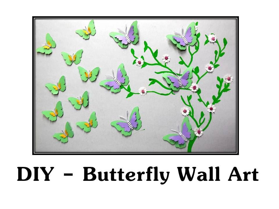 DIY - Paper Butterflies Wall Decor - YouTube