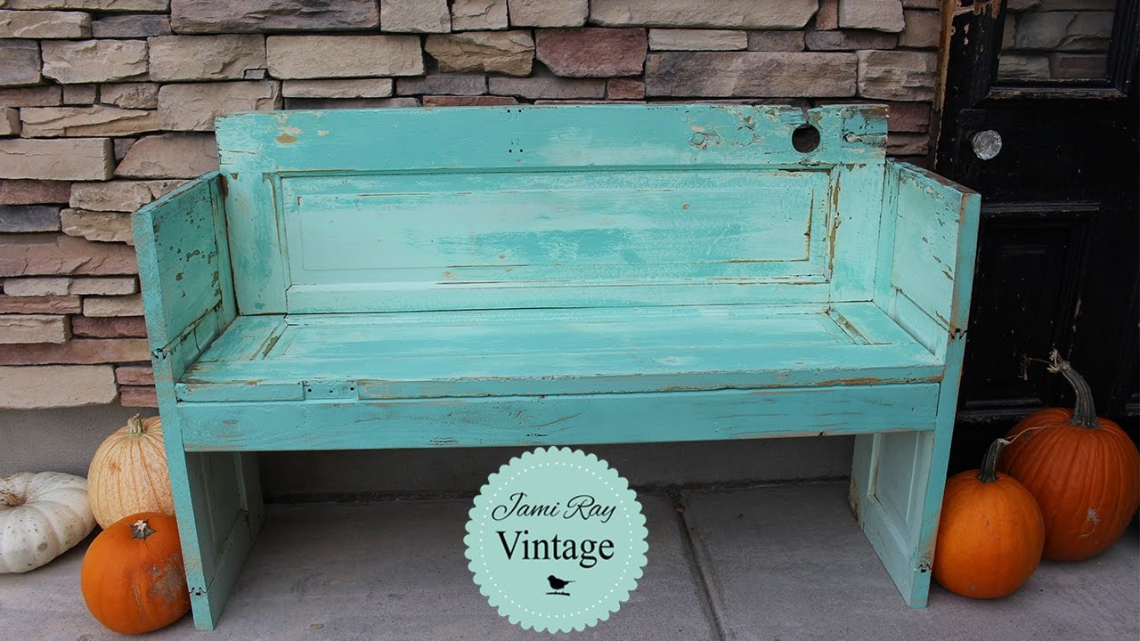 How to build a bench out of an old Door | DIY Bench | Jami Ray Vintage & How to build a bench out of an old Door | DIY Bench | Jami Ray ... pezcame.com