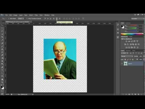 How To Align Image To The Center Of Canvas In Photoshop CS6