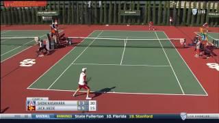 Men's Tennis: USC 4, Arizona 0 - Highlights 4/14/17