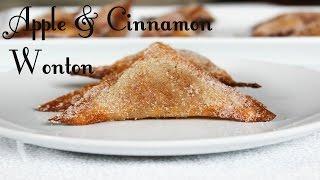 Apple & Cinnamon Wonton Recipe - Healthy And Delicious Desserts
