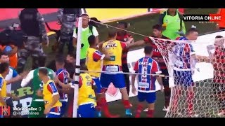 Nine red cards! Vitoria vs Bahia Brazil football derby