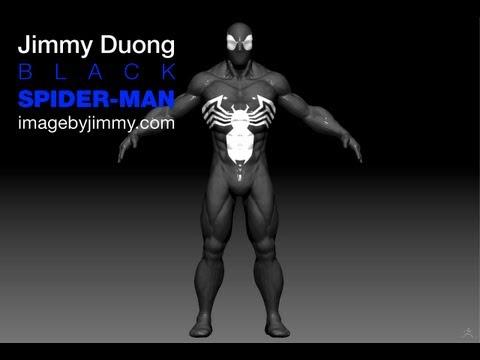 3D Black Spider-Man turntable