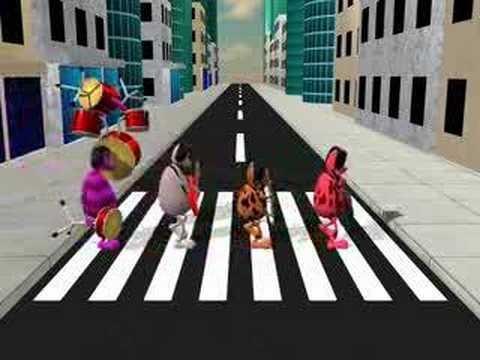 The Rocker Spaniels cross the street