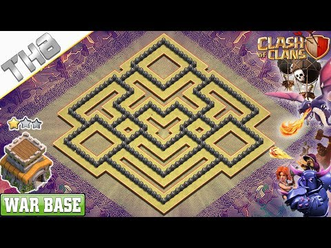 NEW COC TH8 War Base 2019 – Clash Of Clans