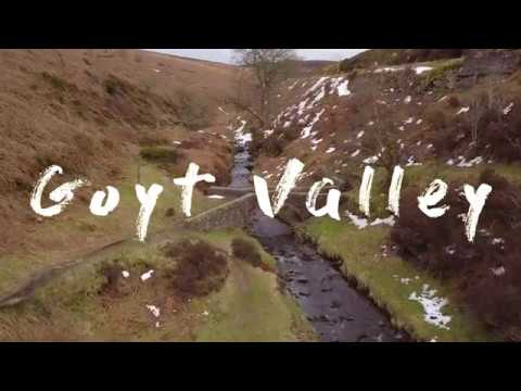 Drone footage of Goyt Valley