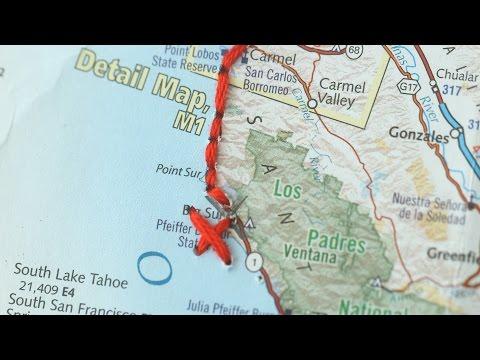 Instant Artwork: Road Trip Map - Martha Stewart