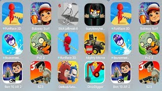 FunRace3D,Subway Surf,Stickjaibreak 6,ScaryBennyNeight,Bouncemasters,PvZ 2,RunRace 3D,Mighty Micros