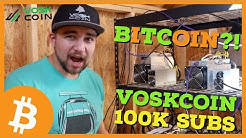 BITCOIN IS HALVING and VOSKCOIN HITS 100,000 SUBSCRIBERS?!