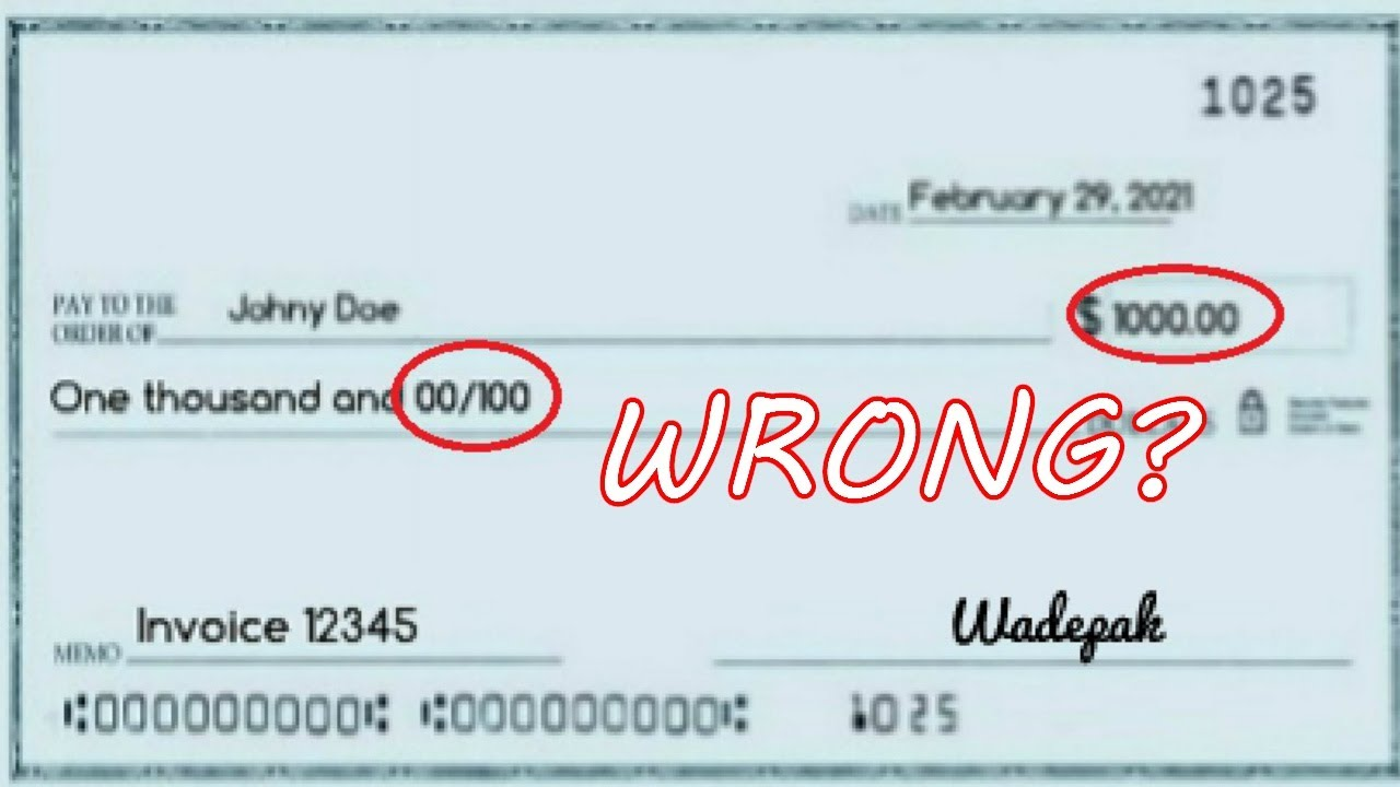 How to Write a Check For $6  Fill Out a Thousand Dollar Check Correctly