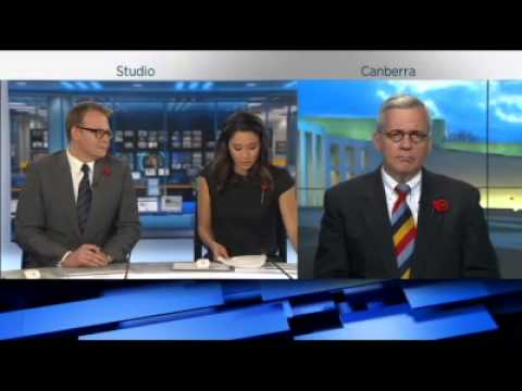 John Blaxland on ABC TV News 24 on Australia in the Iraq War 11 Nov 2014 (1 of 2)
