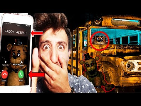 (FNAF IS REAL?!) CALLING FREDDY FAZBEAR ON FACETIME AT 3 AM