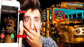 (FNAF IS REAL?!) CALLING FREDDY FAZBEAR ON FACETIME AT 3 AM | FREDDY CAME AFTER US ON THE SCHOOL BUS