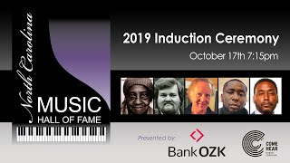 North Carolina Music Hall of Fame 2019 Induction Ceremony