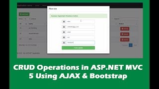 Part-1 | CRUD Operations in ASP NET MVC Using AJAX and Bootstrap