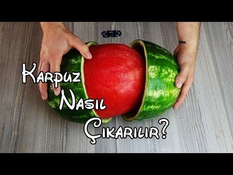 Karpuz Nasl karlr? - Best Watermelon Trick - (Karpuzu btn karp arkadalarnz artn!)
