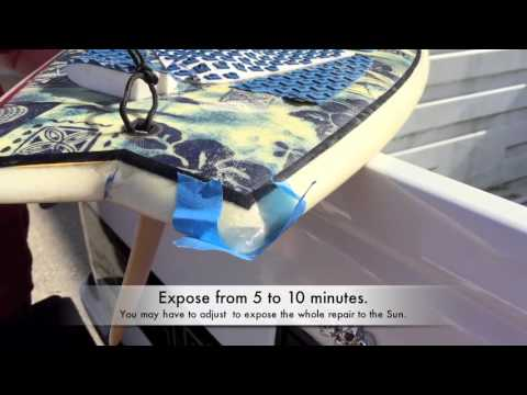 How to fix a surfboard ,Ding Repair using SunCure  Epoxy Fiberfill resin