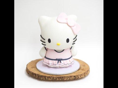 3D Sculpted Hello Kitty Cake - The Making of   Ella Yovero   La Cupella Cake Boutique