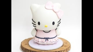 3D Sculpted Hello Kitty Cake - The Making of | Ella Yovero | La Cupella Cake Boutique