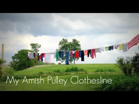 How To Make An Amish Clothesline Pulley System Using 12