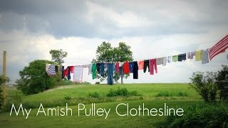 My New Amish Clothesline