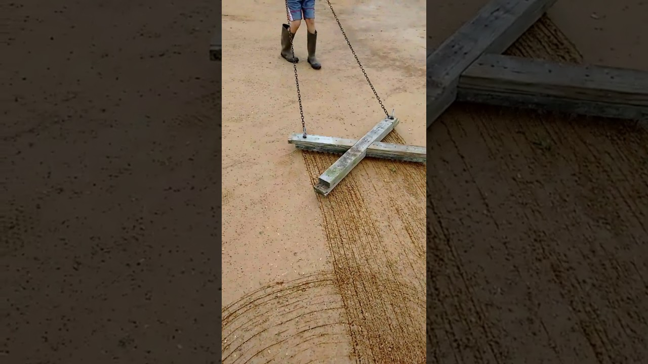 Home Made Drag : Testing out a homemade nail drag for baseball infield dirt