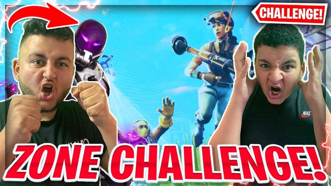 😱WER DIE ZONE ZUERST BERÜHRT VERLIERT CHALLENGE IN FORTNITE! | Wick Brothers Gaming