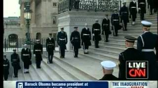 Barack Obama - Presidential Inauguration Day 10 of 12 - Anthem Departure & Commentary