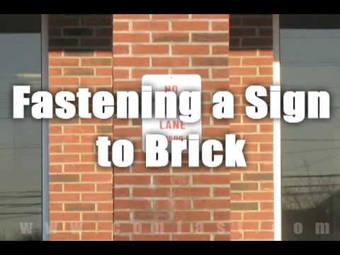 Tapcon Concrete Screws Attaching Sign To Brick Youtube
