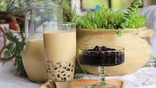 Bubble Milk Tea Recipe - Tapioca Pearls Boba Balls From Scratch [珍珠奶茶]