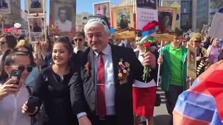 Президент Мирзиёев, Галаба Кунини кайтаринг! Узбеки вместе с Путиным в Бессмертном полку!