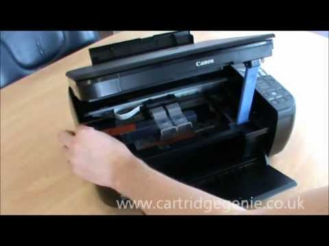 Canon Pixma Mp280 How To Set Up And Install Ink Cartridges Youtube
