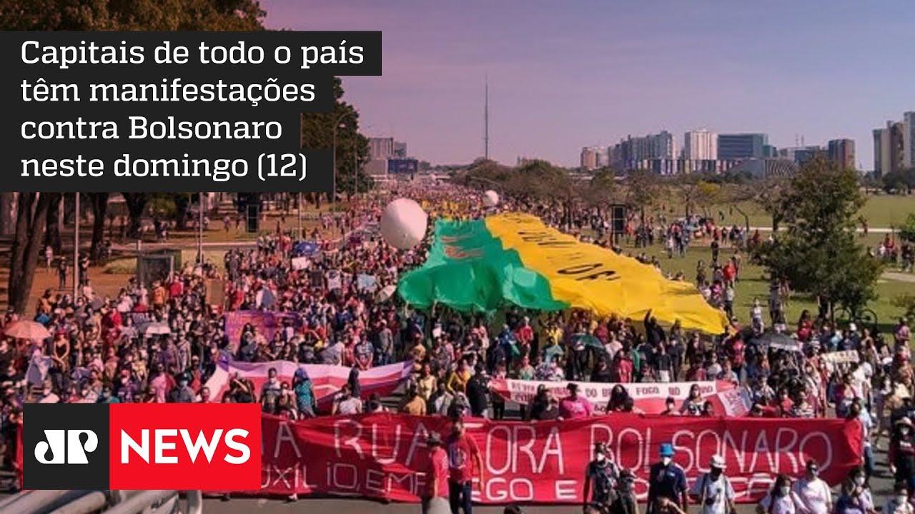 Download Manifestantes iniciam ato pelo impeachment de Bolsonaro no Rio de Janeiro