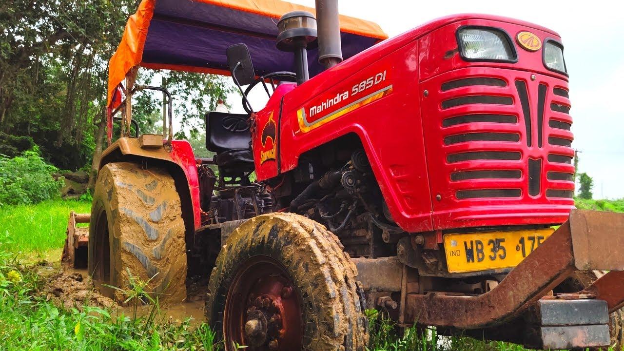 ট্র্যাক্টর টি কিভাবে ফাঁসলো দেখুন   See how the tractor got stuck   tractor video