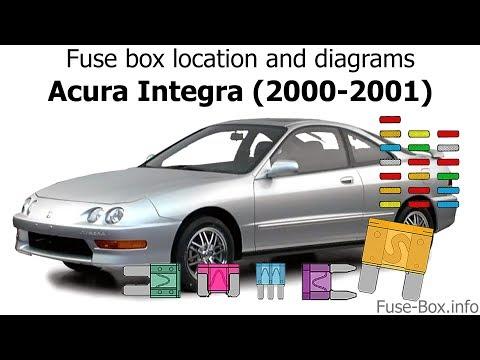 Fuse box location and diagrams: Acura Integra (2000-2001) - YouTubeYouTube