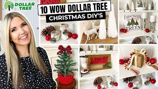 10 WOW Dollar Tree Christmas DIYs...No Skill Required!!