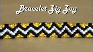Friendship bracelet tutorial Zig Zag pattern