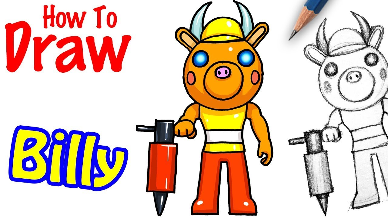 How To Draw Billy Roblox Piggy Youtube