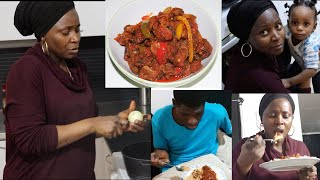 Cook and Eat with Us | Nigerian Lunch / Dinner Meal Idea | GIZDODO