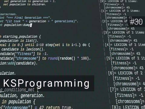 Kerbal Space Programming #30 - Bonus: Genetic Algorithms