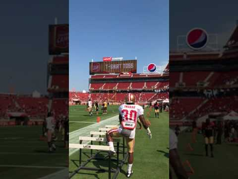 Scenes from the 49ers open practice